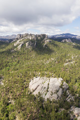 aerial view of mount Rushmore at a distance in South Dakota