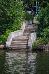 Stairs to the water