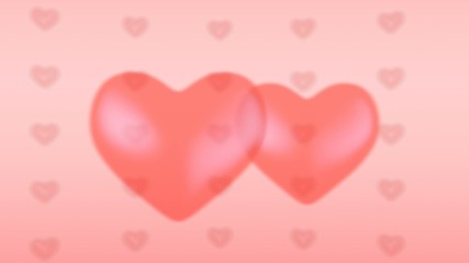 Loopable pink love background with hearts