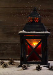 Glowing Lantern during the holidays