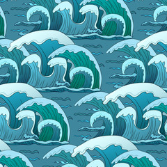 waves pattern in ocean
