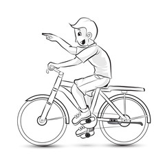 portrait of male riding a bike