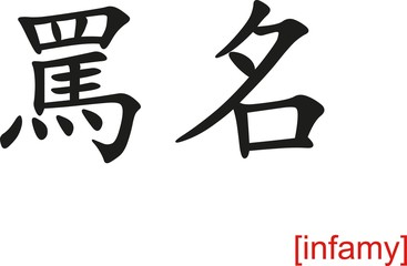 Chinese Sign for infamy