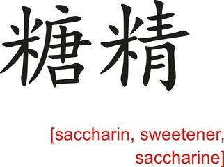 Chinese Sign for saccharin, sweetener, saccharine