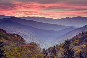 Smoky Mountains National Park in Tennessee, USA