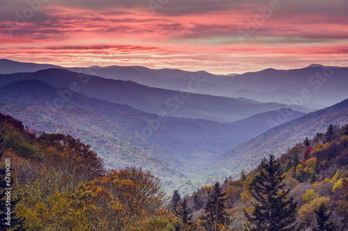Fotobehang Bergen Smoky Mountains National Park in Tennessee, USA