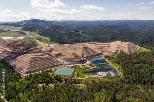 Foto op Canvas Luchtfoto open pit mine