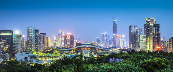 Shenzhen, China Civic Center Panorama © SeanPavonePhoto