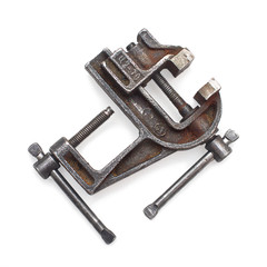Vise tool isolated on white background