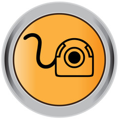 Web camera button, badge, sign