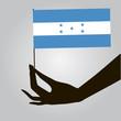 Hand with flag Honduras