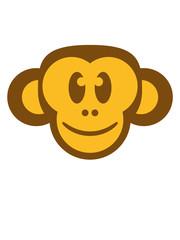 Lustiger glücklicher fröhlicher Affe