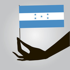 Hand with flag Honduras
