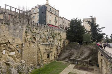 Tourists visiting Cava San Marino Balestrieri