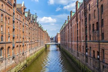 Warehouses in Speicherstadt in Hamburg, Germany