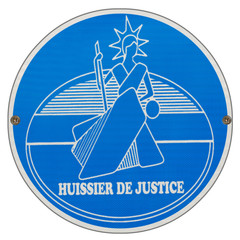 plaque ronde huissier de justice