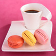 macaroon and coffee cup