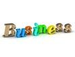 Business 3d inscription bright volume letter