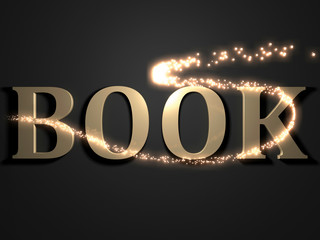 BOOK- 3d inscription with luminous line