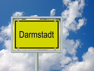 Darmstadt - Ortsschild