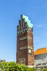 Hochzeitsturm tower at Kuenstler Kolonie artists colony in Darms