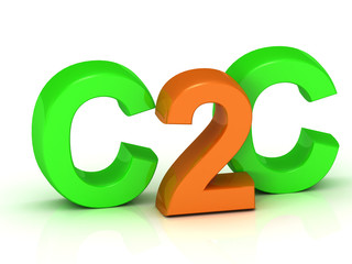 C2C 3d inscription bright volume letter