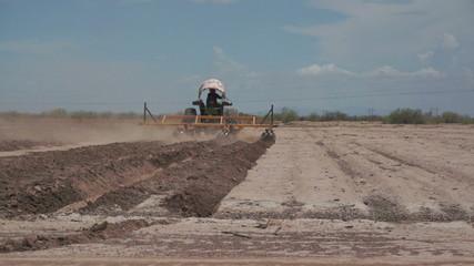 Farming Disc Harrow Dry Land Time Warped