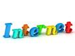 internet 3d inscription bright volume letter