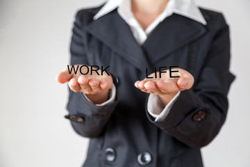 Woman balancing work and private life
