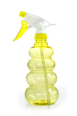 Bottle of window cleaner isolated on white : Clipping path