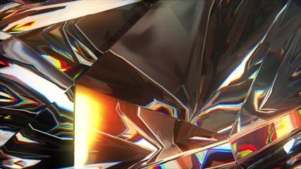 4k close-up slowly rotating diamond, beautiful background.loop