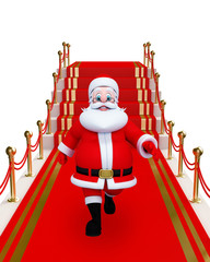 Santa Claus with red carpet
