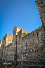 Smederevo fortress and blue sky