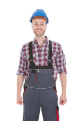 Manual Worker Standing With Hands On Hip