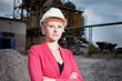 business woman on working field