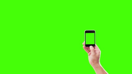 smartphone on a green background