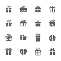 Gift icons set.