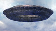 Leinwandbild Motiv UFO CGI