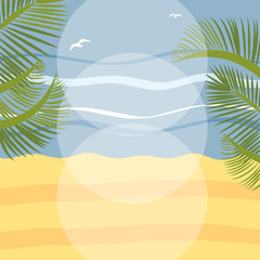 Summer holidays illustration framework