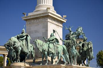 Monumento al Millennio, I sette capi tribu Magiari, Budapest. 2