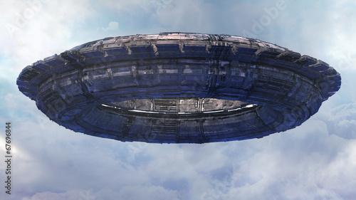 Deurstickers Ruimtelijk UFO CGI