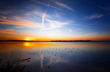 sunset at lake chiemsee (7)