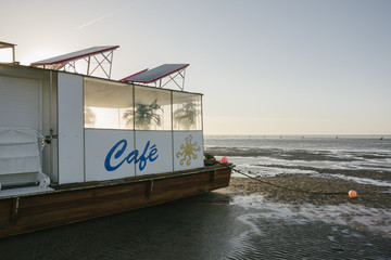 Beach cafe in Cuxhaven, Lower Saxony, Germany