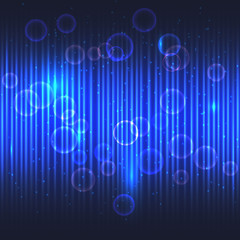 Abstract glowing blue background.