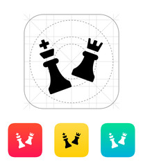 Chess attack icon.