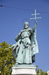 Monumento al Millennio, statua di Santo Stefano, Budapest. 3