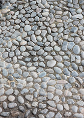 surface of corridor stone in the garden.