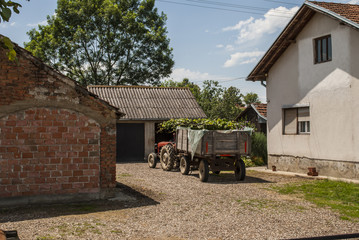 Tractor Parked in Yard