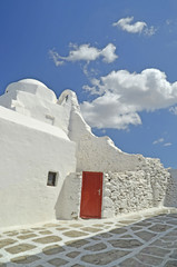 mykonos white church