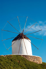 Traditional windmill on Mykonos island, Greece